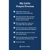 20 Pack Prayer Process Cards