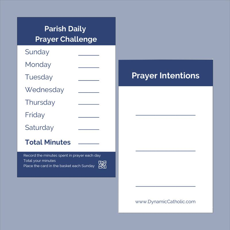 Prayer Tracking Card English image number 0