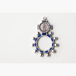 Rosary: Miraculous Medal Ring Blue